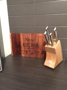 Custom Blackwood chopping board