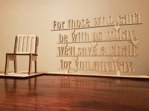 Laser Cut Plywood - Spare chair to remember a loved one